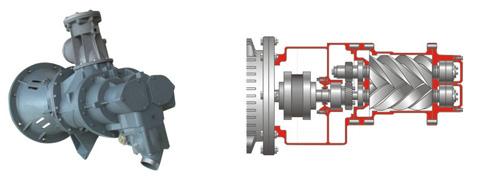 该系统可以对多达14台螺杆式压缩机进行控制,根据系统压力需要,自动对
