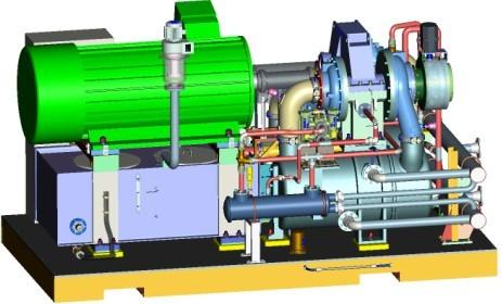 离心式空压机结构图图片